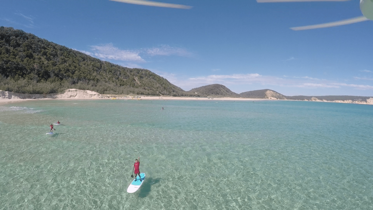 stand up paddle rainbow beach