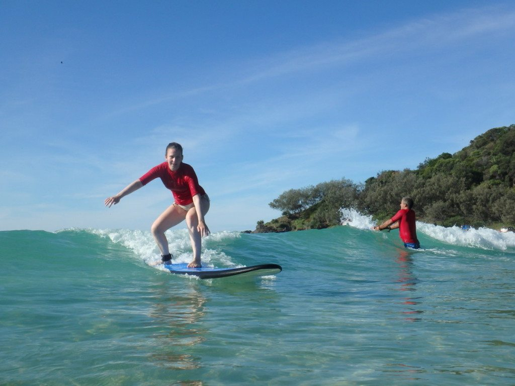 learn to surf noosa