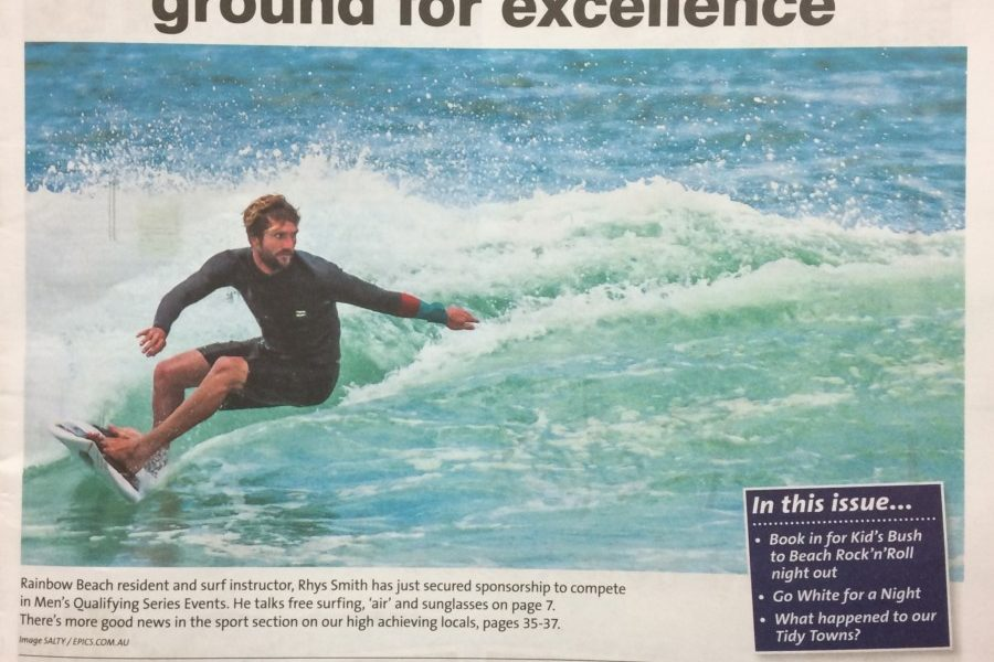 Rhys, our surf instructor, secures sponsorship to surf